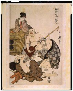 酩酊七変人(1801-1803)-喜多川歌麿-東京国立博物館