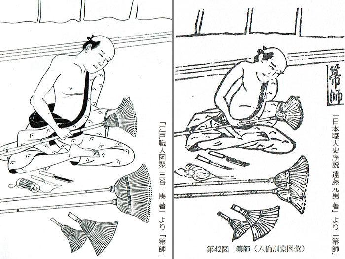 江戸時代の箒師「人倫訓蒙図彙」