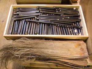 柄竹の準備-小箒・荒神箒用