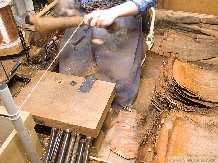 皮5玉手箒の玉作り