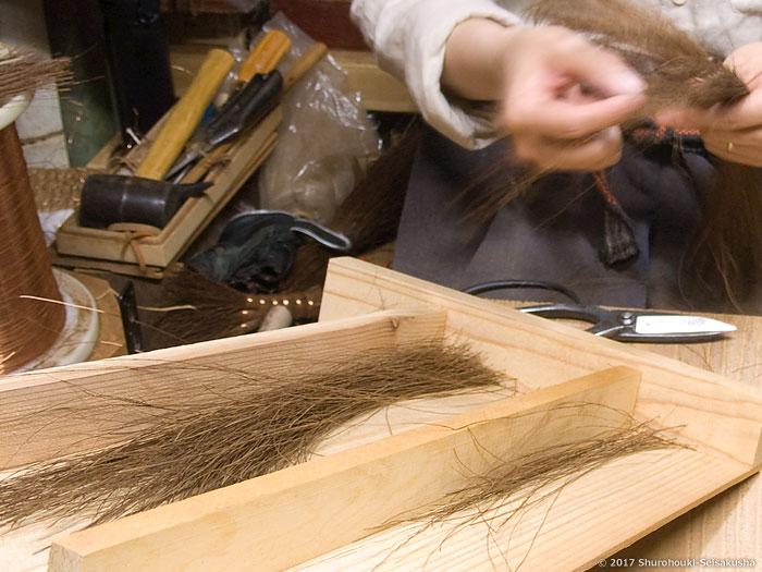 棕櫚箒-棕櫚鬼毛の選別