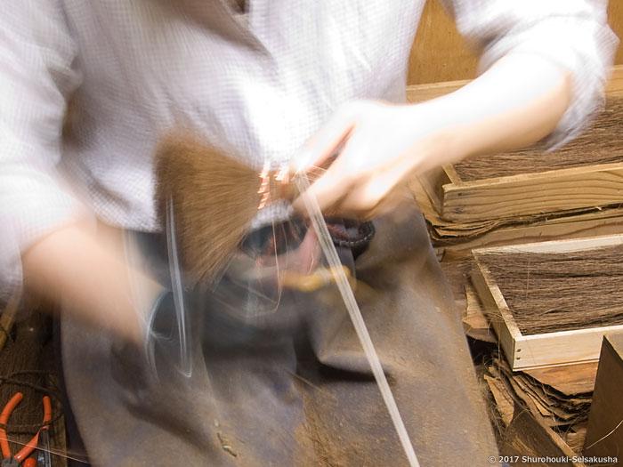 棕櫚箒-棕櫚荒神箒/小箒類の製作と本鬼毛箒の玉作り