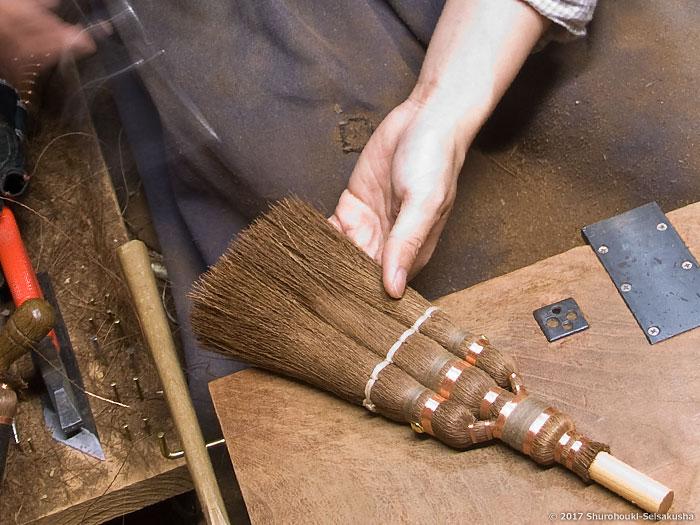 棕櫚箒-寺社/護摩壇用小箒作り