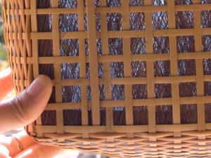 棕櫚皮敷きの炭斗