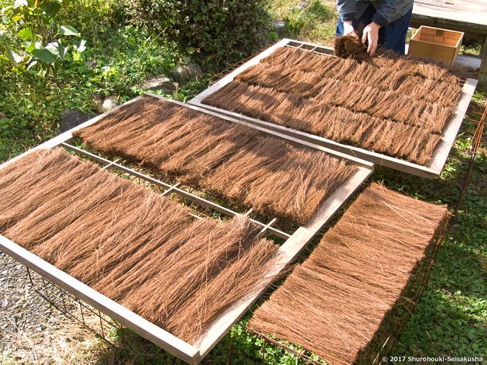 棕櫚箒-棕櫚繊維の毛ごしらえ