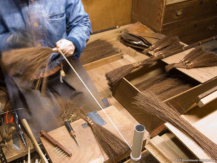 棕櫚箒-鬼毛箒の修理