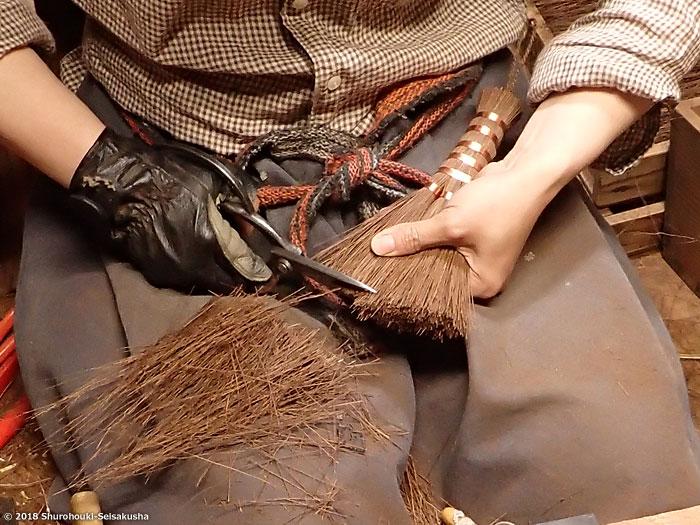 棕櫚箒-本鬼毛荒神箒3玉共柄