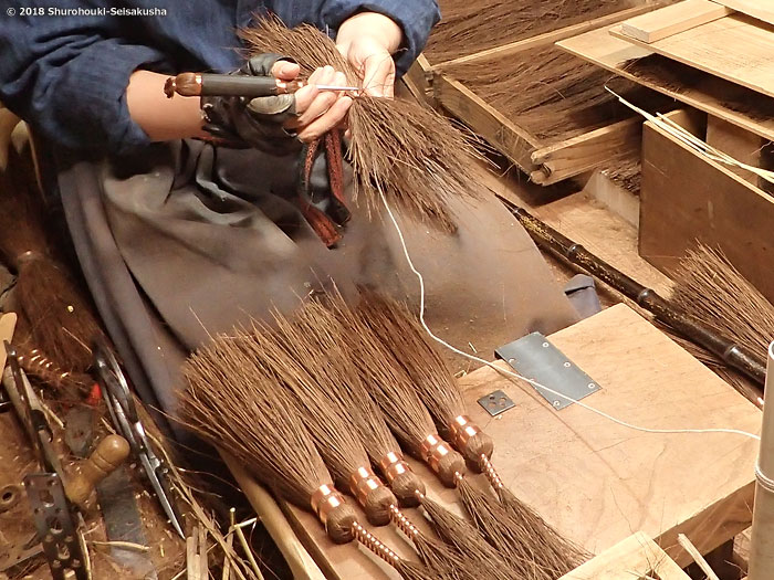 棕櫚箒-本鬼毛箒の玉作り