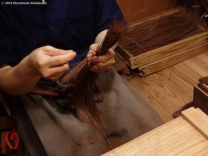 【棕櫚箒】棒束子[キリワラ]足袋洗い