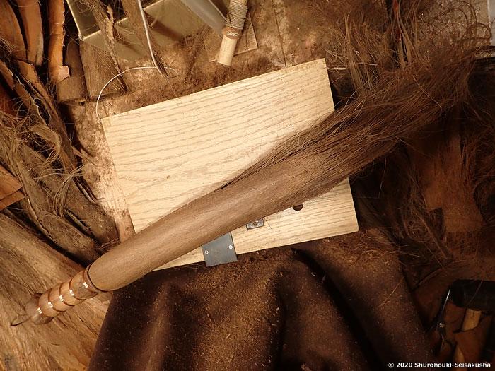 製作風景-棕櫚の書道筆