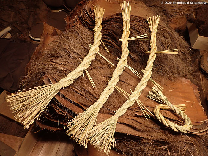 棕櫚箒製作舎-しめ縄作り